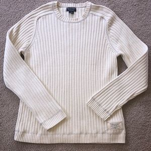 Vintage Polo Jeans Company Cream Ribbed Sweater